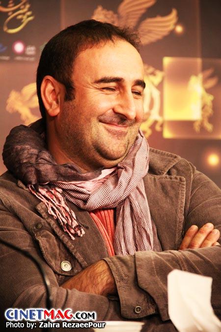 مهران احمدی (بازیگر) در نشست پرسش و پاسخ فیلم