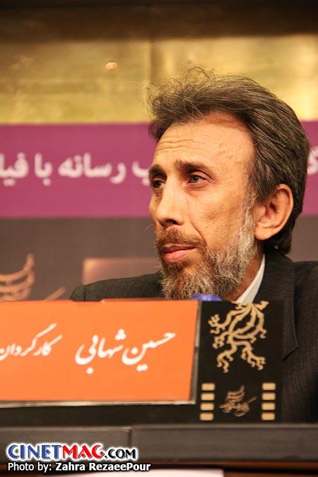 حسین شهابی (کارگردان) در نشست پرسش و پاسخ فیلم