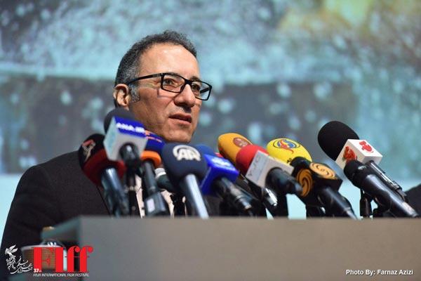 رضا میرکریمی در نشست خبری دبیر جشنواره سی و هفتمین جشنواره فیلم فجر