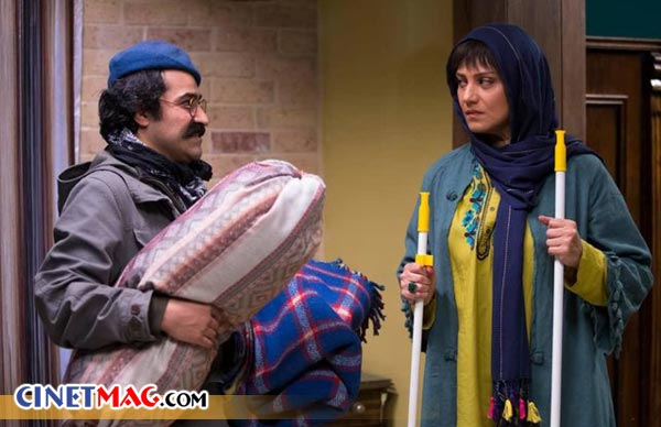 افشین هاشمی و شبنم مقدمی در نمایی از فیلم «خداحافظ دختر شیرازی»