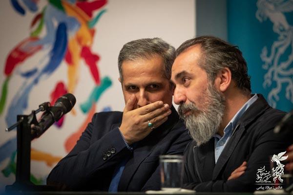 سیامک انصاری و جواد رضویان در نشست پرسش و پاسخ فیلم «زهرمار»