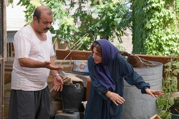 فاطمه معتمدآریا و سعیدآقاخانی در نمایی از فیلم سینمایی