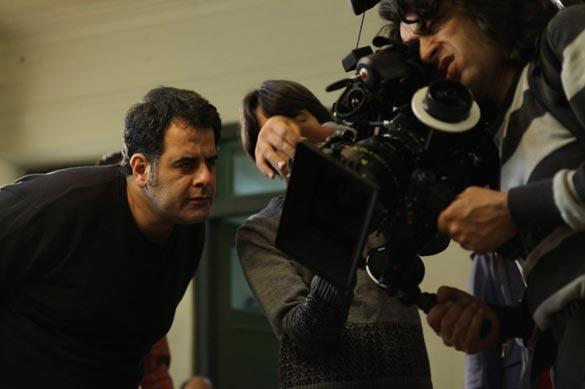 محسن امیریوسفی و تورج اصلانی در پشت صحنه فیلم سینمایی