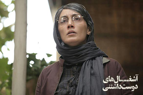 هدیه تهرانی در نمایی از فیلم سینمایی