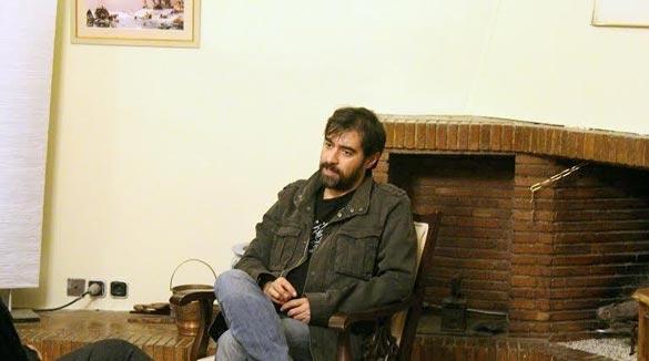 شهاب حسینی در پشت صحنه فیلم سینمایی