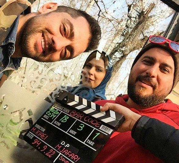 بهرام رادان، محسن کیایی و سحر دولتشاهی در پشت صحنه فیلم سینمایی