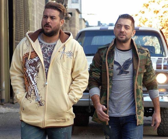 بهرام رادان و محسن کیایی در نمایی از فیلم سینمایی