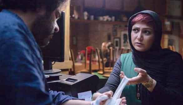 باران کوثری و محمدحسن معجونی در نمایی از فیلم سینمایی