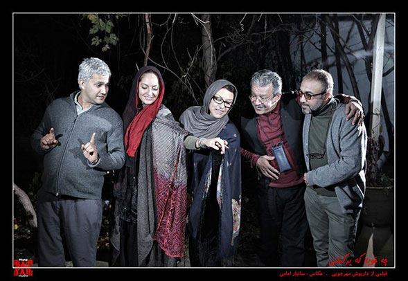 رضا عطاران، حسن پورشیرازی، رویا تیموریان، مهناز افشار و حامد بهداد در نمایی از فیلم