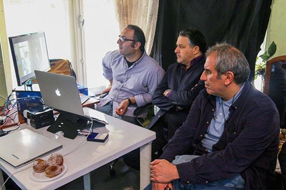 رضا میرکریمی پشت صحنه فیلم