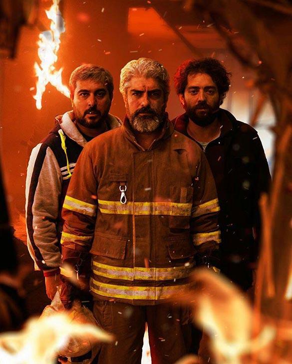 بهرام رادان، مهدی پاکدل و محسن کیایی در نمایی از فیلم سینمایی