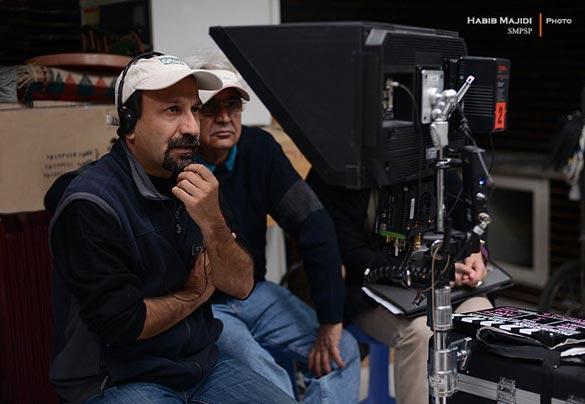 اصغر فرهادی در پشت صحنه فیلم سینمایی
