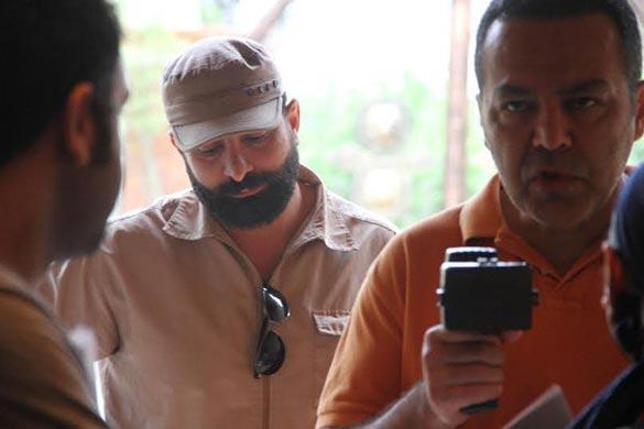 فریبرز عرب نیا در نمایی از اولین فیلم سلفی سینمای ایران