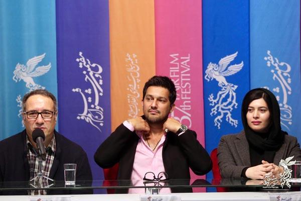 ژیلا شاهی، حامد بهداد و رضا میرکریمی در نشست پرسش و پاسخ فیلم «قصر شیرین»