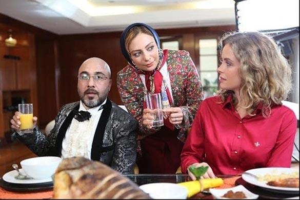 بری فیوکا ، یکتا ناصر و رضا عطاران در نمایی از فیلم