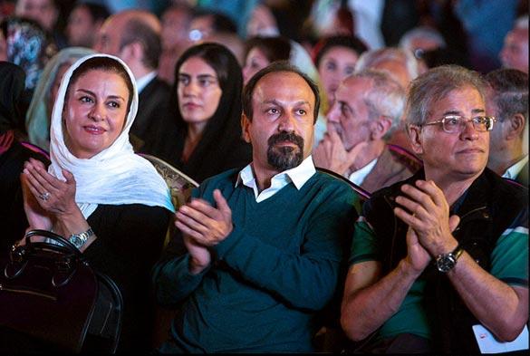 اصغر فرهادی و مریلا زارعی در هفدهمین جشن خانه سینما